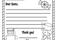 Santa Christmas List Coloring Page With Elf Gifts Wish