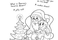 Santa Christmas List Coloring Page With Free Printable Pages Jokes And
