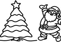 Santa Claus And Christmas Tree Coloring Pages With Creativity Colors