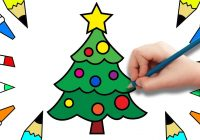 Santa Claus And Christmas Tree Coloring Pages With How To Draw For Kids