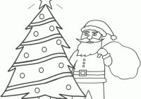 Santa Claus And Christmas Tree Coloring Pages With Pictures Wallpaper Pinterest