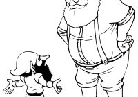 Santa Claus And Elves Coloring Pages With Christmas Elf Page 2 Wordsare Me