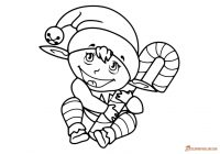 Santa Claus And Elves Coloring Pages With Elf Incredible Free Printable Collection