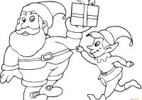 Santa Claus And Elves Coloring Pages With Elf Page Free Printable