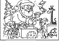 Santa Claus Christmas Coloring Pages For Kids With Games Inspirationa