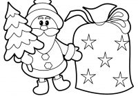 Santa Claus Christmas Tree Coloring Pages With Gallery Free Books