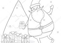 Santa Claus Christmas Tree Coloring Pages With Page Stock Vector Royalty