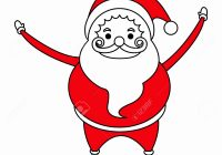 Santa Claus Coloring Face With Template Printable Beard