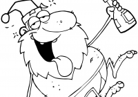 Santa Claus Coloring Page Free With Pages