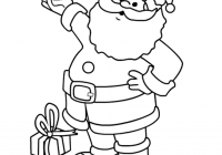 Santa Claus Coloring Page With Pages For Toddlers Kids Merry Christmas