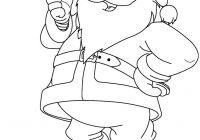 Santa Claus Coloring Pages With Book Free Funny Page Printable 821 1062 6