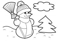 Santa Claus Coloring Pages With Christmas And Tree