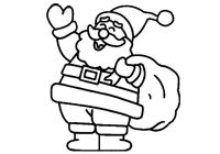 Santa Claus Coloring Pages With How To Draw Merry Christmas