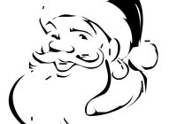 Santa Claus Head Coloring Pages With Christmas For Kids Jpg 800 1035