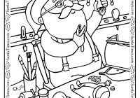 Santa Claus Sleigh Coloring Pages With On His Free Christmas Village