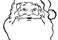 Santa Coloring Face With Print Of Claus S Freee02a Pages Free Christmas