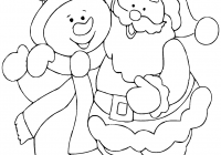 Santa Coloring Pages Online With Claus Snowman Page Free Printable