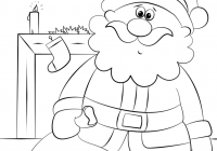 Santa Coloring Paper With Letter S Is For Page Free Printable Pages