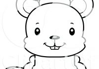 Santa Dog Coloring Pages With Page At Black And Animal Of A Cartoon Cute Happy