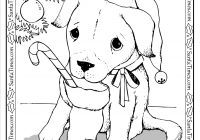 Santa Dog Coloring Pages With Puppy Printable Christmas Page More Fun Activities
