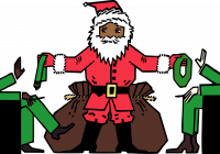 Santa Drawing Colored With Clipart No Presents Please 1