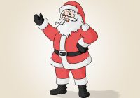 Santa Drawing Colored With How To Draw Claus 14 Steps Pictures WikiHow