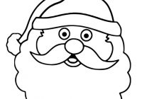 Santa Face Coloring Page Template With Claus Printable Pages For Christmas