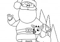 Santa Face Coloring Page Template With Free Printable Claus Pages For Kids