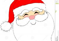 Santa Face Coloring Page Template With Stock Photo Image 663460 CHRISTMAS COLORING PAGES