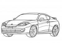 Santa Fe Coloring Pages With Get Printable Hyundai Tiburon Coupe Page Carsss