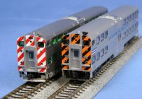 Santa Fe Train Coloring Pages With N Scale Starter Series MP36PH And Bi Level Commuter Cars Sets