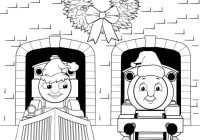 Santa Hat Coloring Pages Printable With Page Train Thomas The Tank Engine Friends Free