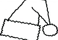Santa Hat Coloring Picture With Page Images Free Pages Part 3 And