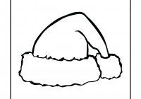 Santa Hat Coloring Picture With Page Jandkgoss Com