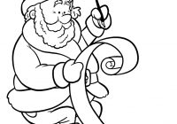Santa List Coloring Sheet With Free Clip Art Pictures Pages Letter Template