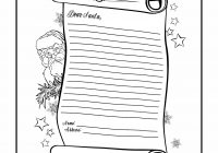 Santa List Coloring Sheet With Letter Page