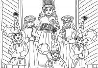 Santa Lucia Coloring Pages With Fargelegging Google Søk Color Christmas Winter