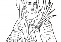 Santa Lucia Coloring Pages With Nice Free Of Christian Saints Check More At Http