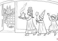 Santa Lucia Coloring Pages With St S Day Page Free Printable