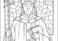 Santa Lucia Coloring Sheets With Saint Pope Leo The Great Page Catholic Kid