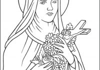 Santa Lucia Coloring Sheets With Saint Therese Of Lisieux Little Flower Page Catholic