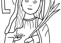 Santa Lucia Coloring Sheets With Saints Pages Printable Catholic
