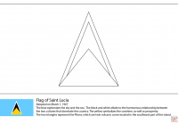 Santa Lucia Coloring With Flag Of Saint Page Free Printable Pages