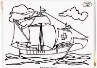 Santa Maria Coloring Page With Columbus Pages Day Nears