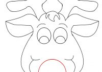 Santa Mask Coloring Page With Best Photos Of Christmas Templates Free Reindeer Printable