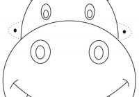 Santa Mask Coloring Page With Hippo Printable For Kids Izimler Pinterest