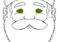 Santa Mask Coloring Page With To Cut Out And Color
