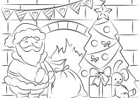 Santa On A Surfboard Coloring Page With Free Pages And Printables For Kids