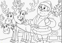 Santa Reindeer Coloring Pages Printable With Claus And His