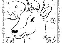 Santa Reindeer Coloring Pages Printable With Dog Pinterest